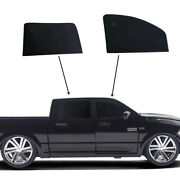 Fit For Ram 1500 Crew Cab 2019-2022 Side Window Black Privacy Cover 4pcs