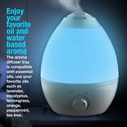 Bell + Howell Xxl Ultrasonic Color Changing Humidifier And Aroma Diffuser- 1 Gal