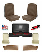 1964-1/2 -1965 Ford Mustang Coupe Palomino Seat Upholstery, Foam And Panel Kit