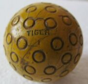 Very Hard To Find Yellow Tiger Golf Ball With Large Circles