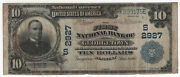 1902 Pb 10 First National Banknote Georgetown Kentucky Circulated Fine 7363