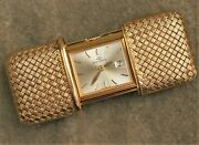 Movado Ermeto Travel Watch Solid 18k Gold