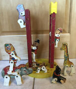 Vintage 1960andrsquos Fisher-price Junior Circus Play Set Replacement Pieces Monkey