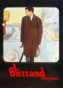 Original Vintage French Fashion Advertisement Poster And039blizzand Manand039 Gruau 1960