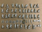 Lot 40 Figures 6 Wheels Miscellaneous Bits - 15mm Prussian Artillery Syw