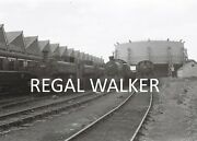 British Rail Railway Steam Photo 1960and039s - Engines In Store At Swindon Shed 1962