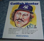 Cat Fish Hunter Daily News N.y. Yankees Series Photos / Bill Gallo Caricatures