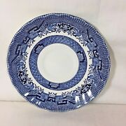 Blue Willow China Saucer Swirl Pattern Royal Wessex Dishwasher And Microwave Safe