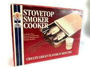 New Vintage Stovetop Smoker Cooker Stainless Steel Old Stock Rare