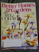 Better Homes And Gardens April 2019 Easter Rhubarb Patio Magazine Iris Color