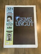 A24 Uncut Gems Promotional Newspaper W/ Poster Rare Brand New Safdie Brothers