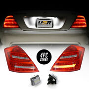 Combo Depo Facelift Led Tail Light+license Plate For 07-09 Mercedes W221 S Class