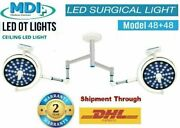 Model 48 +48 Surgical Operating Double Satellite Ceiling Light Operation Theater