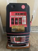 Vtg Antique Deco Mills 5 Cent Nickel High Top Striped Slot Machine Circus As Is