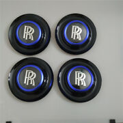 Rolls Royce Bezel Black Ghost Dawn Wraith Wheel Blue Center Cap Modify Kit