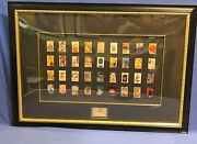 Disney 75th Anniversary Limited Edition One Sheet Framed Poster Pin Set Of 36