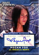 2007 Megan Fox Topps Transformers As Mikaela Certified Autograph Card Signed Au