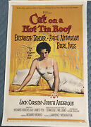 Cat On A Hot Tin Roof Original Linen Backed Us First Release 27x41 1958 Taylor