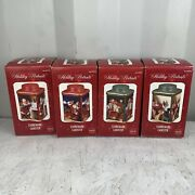 Complete Set Of 4 Sakura Coca Cola Stoneware Canisters Christmas New
