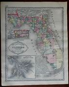 Florida County Map Eads Jetty System Florida Keys West Florida 1892 Tunison Map
