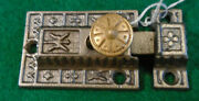 Vintage Eastlake Cabinet Latch W/ Brass Knob And Matching Keeper A-129