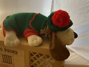 Rare Signed Vintage Pound Puppy In Original Crate Collectors Edition W/ Cert