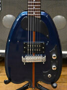 Used H.s.anderson Hs-a1j Blue Electric Guitar 1 H Medium Scale Rose Fb W/gb
