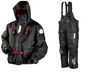Frabill I-float Jacket And Bib Ice Fishing Suit Black 2x Msrp 600 Pant And Parka