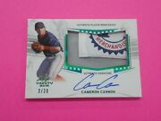 Cameron Cannon 2019 Leaf Trinity Patch/auto 2/20 Card Pa-cc2 Red Sox