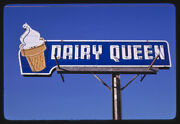 Photo Of Dairy Queen Ice Cream Sign, Rt. 77, Purcell, Oklahoma 1979 A7
