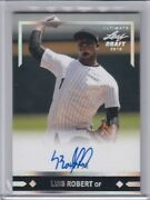 Luis Robert 2018 Leaf Ultimate Draft Auto Rookie Card D 12/15 White Sox Rare Rc