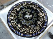 50 Inches Marble Hallway Table Top Black Restaurant Table With Cottage Crafts