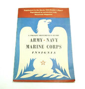 Vintage Wwii 1943 Army Navy Marine Corps Insignia Pocket Reference Guide Book