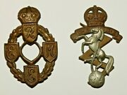 British Military Cap Badge Royal Electrical And Mechanical Engineers Two Patterns