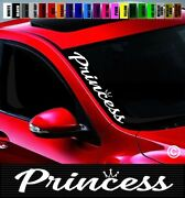 20 Princess 2 Side Windshield Car Decal Sticker Cute Jdm Crown Sexy Spoiled