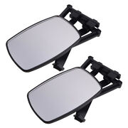 2x Adjustable Extension Clip On Trailer Towing Side Mirror Rv Safe Hauling Set