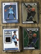 Lot Of Four 2019-20 Ja Morant Rookie Cards 1 Jersey Relic/1 Green Mosaic/ 2 Base