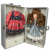 Lasting Impressions Companion Collection 12 Porcelain Doll With Wardrobe Case