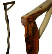 31'' Strong Walking Cane Inlaid Polished Quartz, Diamond Willow Wood Handcrafted