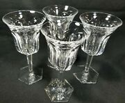 Baccarat Crystal Malmaison Water Globets 7 1/2 Signed Set Of 4pc