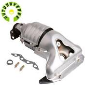 For Honda Civic Exhaust Manifold W/ Catalytic Converter For 01-05 1.7l L4 Sohc