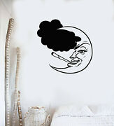 Vinyl Wall Decal Bedroom Goodnight Crescent Cigarette Smokes Stickers G3633