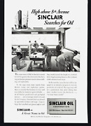 1950 Double Side Sinclair Oil 5th Avenue And Esterbrook Fountain Pens Print Ad