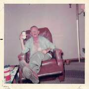 Day Drinker - Man In Recliner - Can Of Coors In Hand At All Times Vtg Photo 401