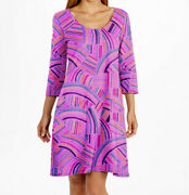 Fresh Produce Usa Xs Nwt Cosmos Sundrenched Dalia Cotton Jersey Pocket Dress