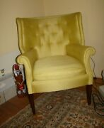 Pair Of Heritage Henredon Mid Century Wing Back Chairs