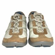 Privo By Clarks Womenand039s Size 5.5 Casual Lace Up Shoes Leather Beige Ivory Tan
