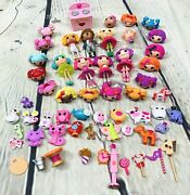 Lalaloopsy Doll Lot With Pets Animals Accessories Extra Heads 58 Pc Littles Mini