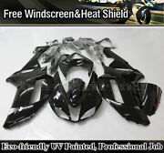 For Kawasaki Ninja Zx6r 2007 2008 Zx600p Gloss Black Fairings Kit Injection Body
