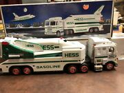 Hess 1999 Toy Truck And Space Shuttle With Satellite In Original Box